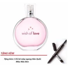 Nước hoa nữ AVON Wish of Love 50ml + Tặng 1 Chì Kẻ mày ngang Hàn Quốc màu Nâu Đen
