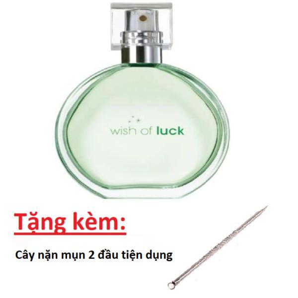 Nước hoa nữ Avon Wish of Luck (Xanh lá) 50ml + Tặng kèm cây nặn mụn 2 đầu Vacosi