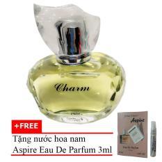 Nước Hoa Nữ Dịu Ngọt Charm Eau De Parfum 60Ml Tặng Nước Hoa Nam Aspire Eau De Toilette 3Ml Jolie Dion Chiết Khấu 40