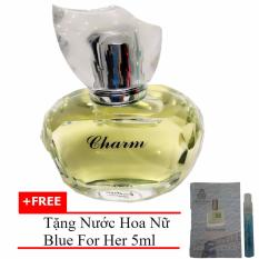 Mã Khuyến Mại Nước Hoa Nữ Dịu Ngọt Charm Eau De Parfum 60Ml Tặng Nước Hoa Nữ Blue For Her Eau De Parfum 5Ml Jolie Dion
