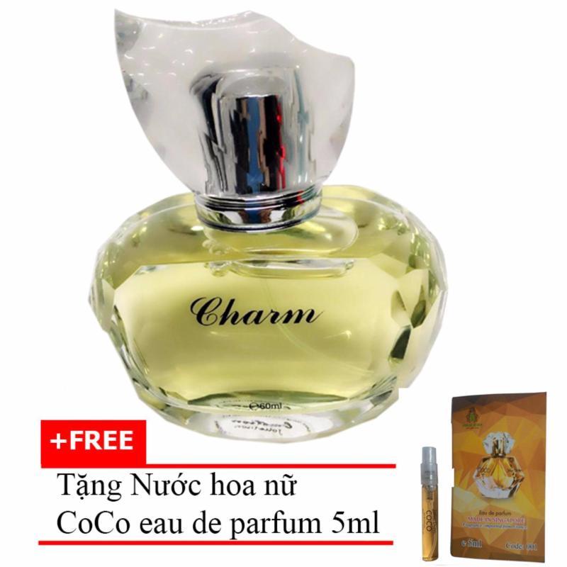 Nước hoa nữ dịu ngọt Charm Eau de Parfum 60ml  + Tặng Nước hoa nữ CoCo eau de parfum 5ml