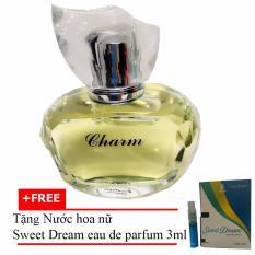 Nước hoa nữ dịu ngọt Charm Eau de Parfum 60ml  + Tặng Nước hoa nữ Sweet Dream eau de parfum 3ml