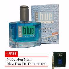 Nước hoa nữ Jolie Dion Blue For her eau de parfum 60ml + Tặng nước hoa nam Blue eau de toilette 3ml