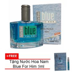 Nước hoa nữ Jolie Dion Blue For her eau de parfum 60ml + Tặng Nước hoa nam Blue For Him eau de parfum 5ml