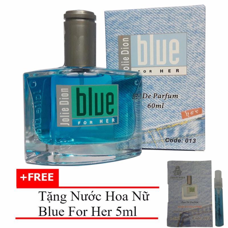 Nước hoa nữ Jolie Dion Blue For her eau de parfum 60ml + Tặng Nước hoa nữ Blue For Her eau de parfum 5ml