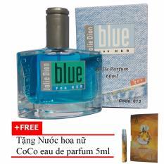 Nước hoa nữ Jolie Dion Blue For her eau de parfum 60ml + Tặng Nước hoa nữ CoCo eau de parfum 5ml