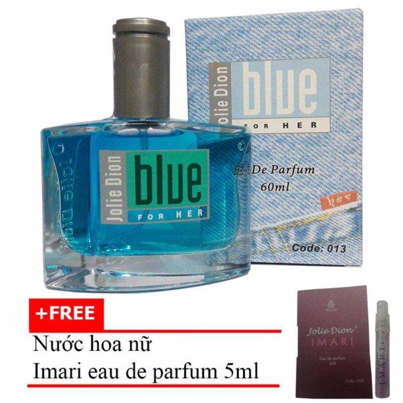 Nước hoa nữ Jolie Dion Blue For her eau de parfum 60ml + Tặng Nước hoa nữ Imari eau de parfum 5ml