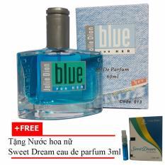 Nước hoa nữ Jolie Dion Blue For her eau de parfum 60ml + Tặng Nước hoa nữ Sweet Dream eau de parfum 3ml