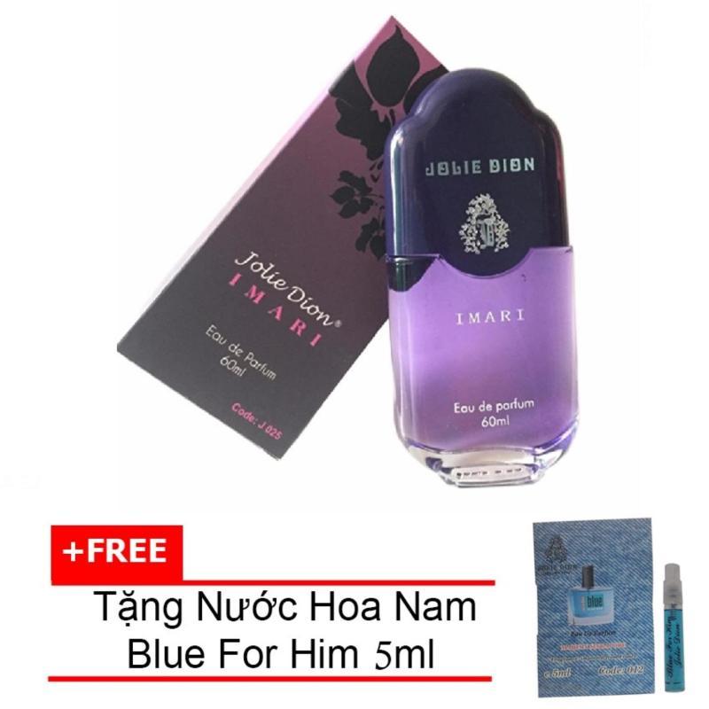 Nước hoa nữ Jolie Dion Imari Eau de Parfum 60ml + Tặng Nước hoa nam Blue For Him eau de parfum 5ml