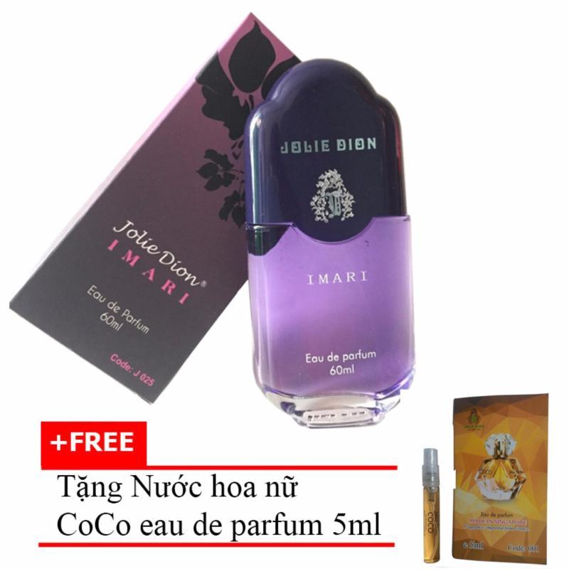 Nước hoa nữ Jolie Dion Imari Eau de Parfum 60ml + Tặng Nước hoa nữ CoCo eau de parfum 5ml