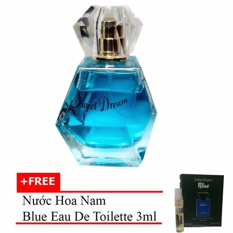 Nước hoa nữ Jolie Dion Sweet dream Eau de Parfum 60ml + Tặng nước hoa nam Blue eau de toilette 3ml