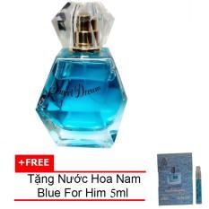 Nước hoa nữ Jolie Dion Sweet dream Eau de Parfum 60ml + Tặng Nước hoa nam Blue For Him eau de parfum 5ml