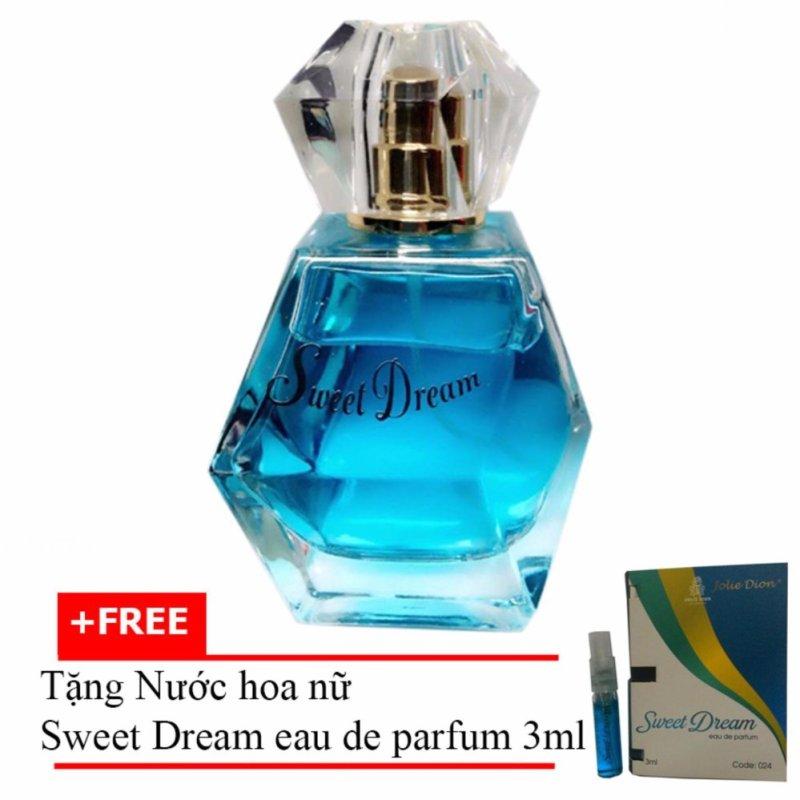 Nước hoa nữ Jolie Dion Sweet dream Eau de Parfum 60ml + Tặng Nước hoa nữ Sweet Dream eau de parfum 3ml