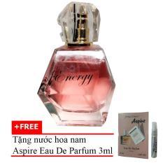 Nước Hoa Nữ Nồng Ấm Quyến Rũ Energy Eau De Parfum 60ml + Tặng Nước Hoa Nam Aspire Eau De Toilette 3ml