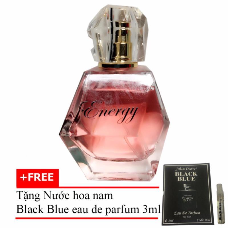 Nước hoa nữ nồng ấm quyến rũ Energy eau de parfum 60ml + Tặng Nước hoa nam Black Blue eau de parfum 3ml