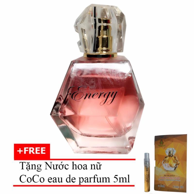 Nước hoa nữ nồng ấm quyến rũ Energy eau de parfum 60ml + Tặng Nước hoa nữ CoCo eau de parfum 5ml