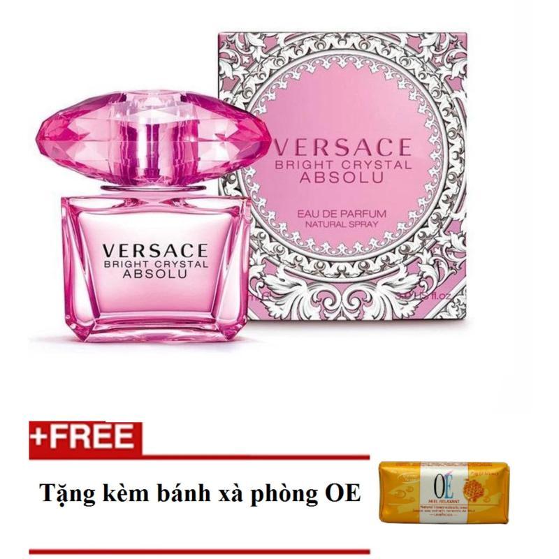 Nước hoa nữ Versace Bright Crystal Absolu Eau de Parfum 50ml + Tặng bánh xà phòng oe
