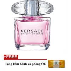 Nước hoa nữ Versace Bright Crystal Eau de Toilette 30ml + Tặng bánh xà phòng oe