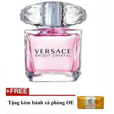 Nuớc hoa nữ Versace Bright Crystal Eau de Toilette 90ml + Tặng bánh xà phòng oe