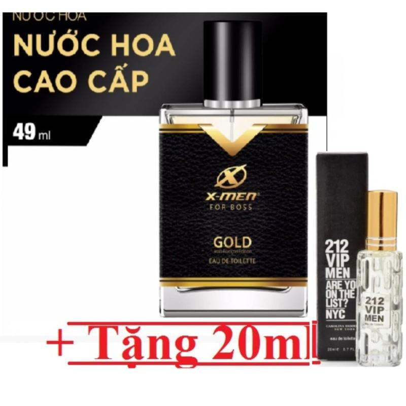 Nước hoa xmen for Boss Gold 49ml tặng kèm Lancôme miracle 20ml cho nữ, hương các loại hoa