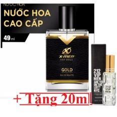 Nước hoa xmen for Boss Gold tặng kèm nước hoa Acqua Di GIO đổi mùi  20ml cho nam, hương các loại hoa, cỏ trái cây…