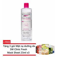 Giá Bán Nước Tẩy Trang Byphasse Micellar Make Up Remover Solution 500Ml Tặng 3 Goi Mặt Nạ Dưỡng Da 3W Clinic Fresh Mask Sheet 23Ml X3 Mới