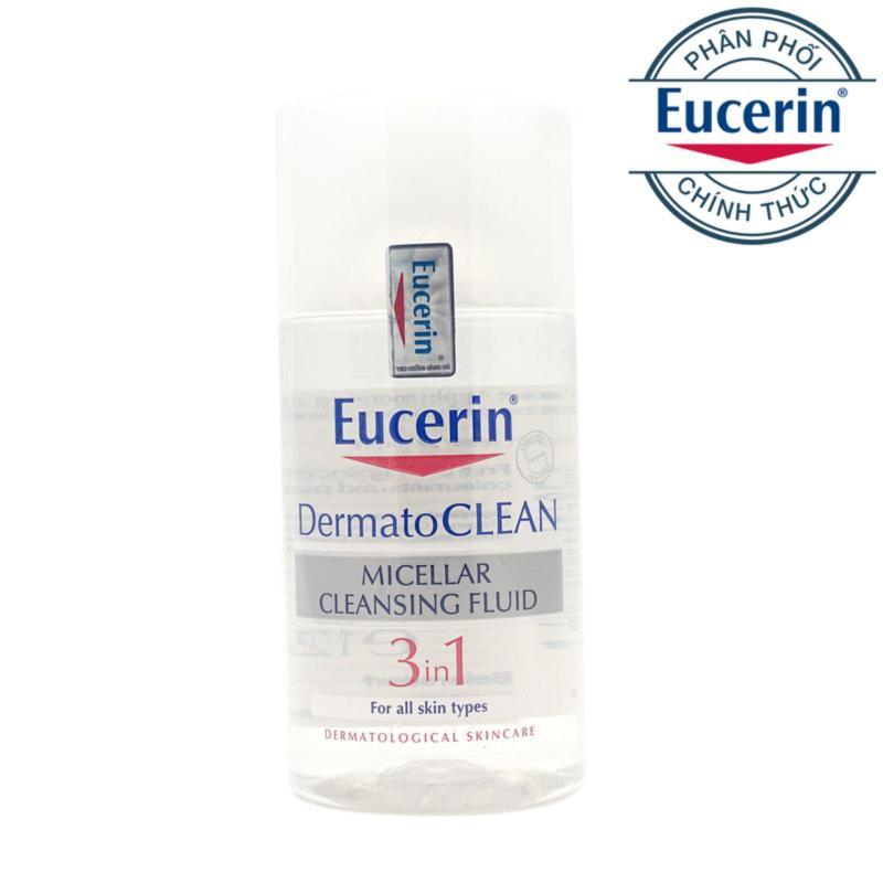 Nước tẩy trang Eucerin DermatoClean Micellar Cleansing Fluid 3in1 - 125ml