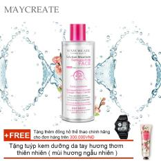 Hình ảnh Nước tẩy trang Maycreate 300ml auth + Tặng tuýp kem dưỡng da tay hương thơm thiên nhiên ( Đơn hàng mỹ phẩm trên 300k tặng thêm 1 đồng hồ thể thao như quảng cáo )