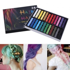 Hình ảnh OHICO 24 Colors Hair Dye Chalk Temporary Instant Hair Color Non-toxic Soft Pastel Kit (Long) - intl