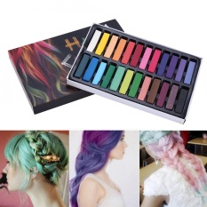 OHICO 24 Colors Hair Dye Chalk Temporary Instant Hair Color Non-toxic Soft Pastel Kit (Short) - intl