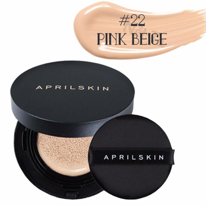 Phấn nước April Skin Magic Snow Cushion 2.0 SPF50+ PA+++ 15g màu 22 Pink Beige - Da sáng hồng nhập khẩu