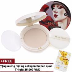 Hình ảnh Phấn phủ Beauskin Collagen UV Two-way Cake SPF40 PA++ 13.5g #21 Dành cho da sáng + Tặng miếng mặt nạ collagen Eu Hàn Quốc