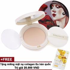 Hình ảnh Phấn phủ Beauskin Collagen UV Two-way Cake SPF40 PA++ 13.5g #23 Dành cho da bình thường + Tặng miếng mặt nạ collagen Eu Hàn Quốc