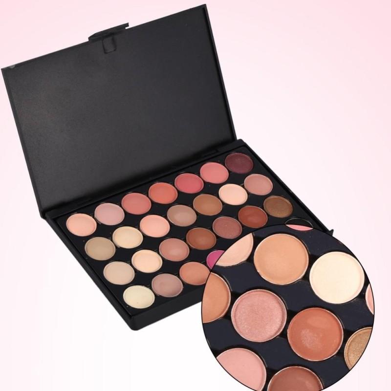 Pro 28 Màu Trang Điểm Mỹ Phẩm Lắc Chân Nữ Matte Eyeshadow Palette Bộ (#1)-quốc tế