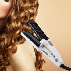 Professional 3 Barrel Fast Heating Mini Portable Hair Curler Perm Splint Hair Roller (White) - intl