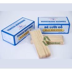 Hình ảnh Que đè lưỡi gỗ BALAC hộp 100 chiếc