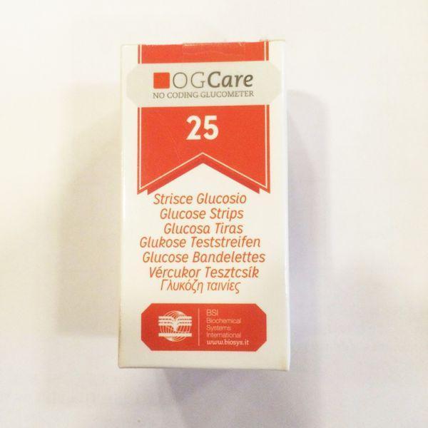Que thử đường huyết Ogcare (Hộp 25 que) nhập khẩu