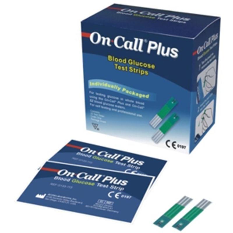 Que thử đường huyết Acon On call Plus 25 que (Xanh trắng)