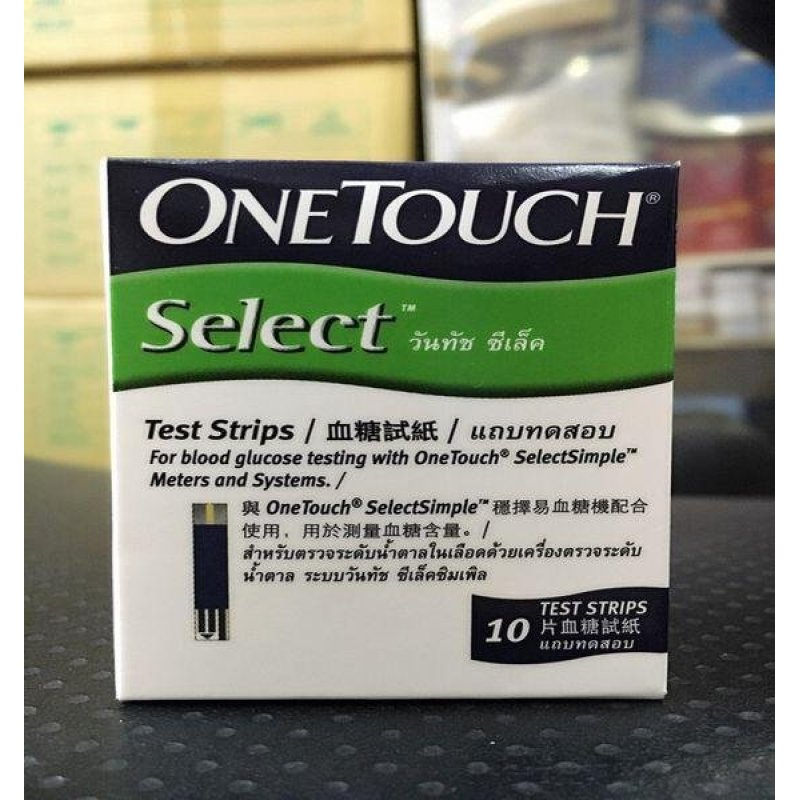 Que thử đường huyết One touch select hộp 10 que