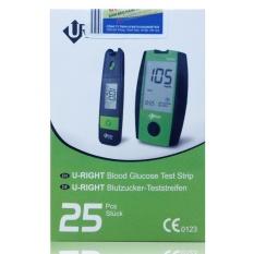 Que thử đường huyết Uright 25 que Dùng cho máy Uright  TD4265, 4267