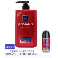 Hình ảnh Romano - Dầu gội Hương nước hoa 650 g ++ Tặng Lăn khử mùi 40 ml - Attitude