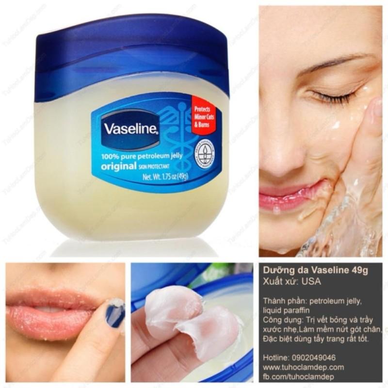 Sáp dưỡng ẩm Vaseline 100% Pure Petroleum jelly Original 49g nhập khẩu