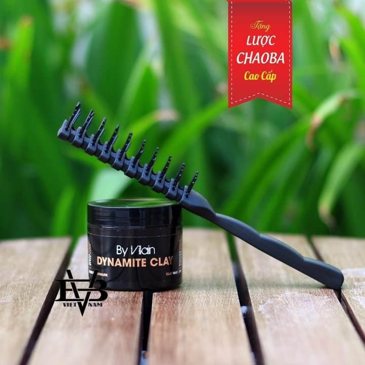 Sáp vuốt tóc By Vilain Dynamite Clay 65ml nam Đan Mạch + Lược tạo kiểu cao cấp Chaoba