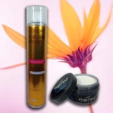 Sáp vuốt tóc Fraicheur + Gôm xịt tóc vàng 320ml nhập khẩu