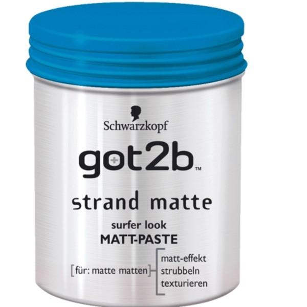 Sáp Vuốt Tóc Got2b Strand Matte Schwarzkopf 100ml-Đức giá rẻ