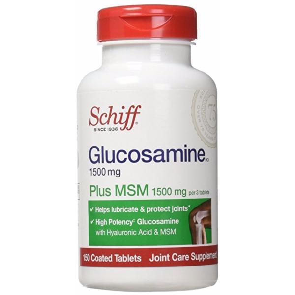 Schiff Glucosamine 1500mg plus MSM + Joint Fluid Hỗ Trợ Trị Viêm Khớp của Mỹ