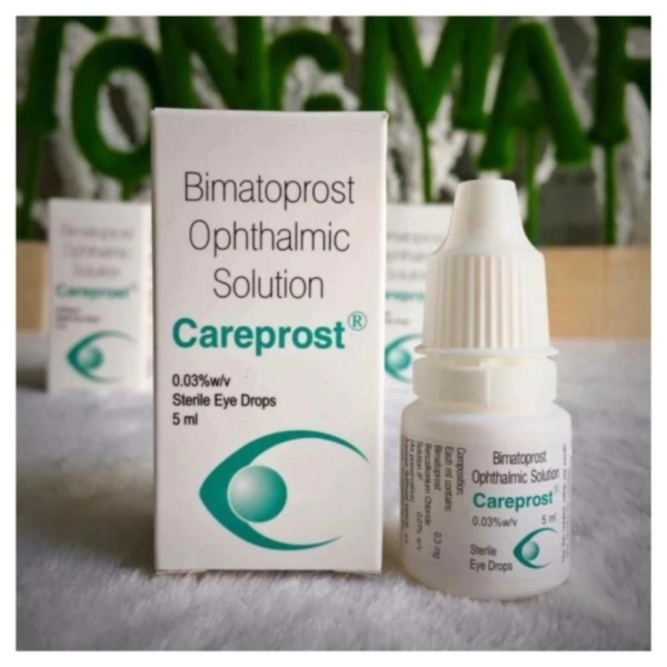 Dung dịch mọc dài và dày mi Ấn Độ Careprost Bimatoprost Ophthalmic Solution 5ml
