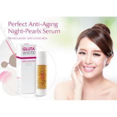 Serum ngọc trai chống lão hóa GLUTA WHITE Perfect Anti  Aging Night Pearls Serum - Ban đêm 50ml tốt nhất
