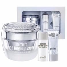 Hình ảnh Set dưỡng trắng tức thì chiết xuất Ốc Sên Goodal Premium Snail Tone Up Cream Special Set [3 Items]