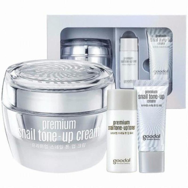 Set Kem Dưỡng Trắng Da Cao Cấp Goodal Premium Snail Tone Up Cream Special Set Chiết Xuất Ốc Sên